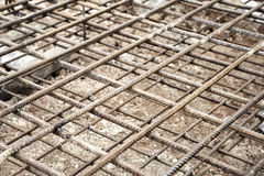 Reinforcing steel mesh Royalty Free Stock Images