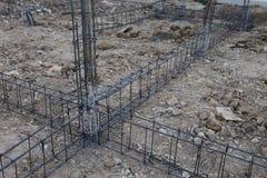 Reinforcing steel rods bars Stock Images