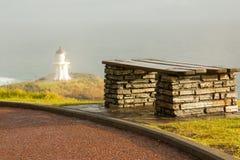 在新西兰的北岛的灯塔海角Reinga 免版税库存照片