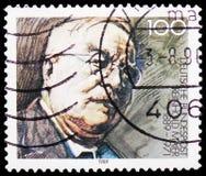 Reinhold Maier, centenaire de naissance de serie de Reinhold Maier, vers 1989 photos stock