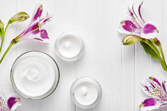 Reinig room kosmetisch organisch kruidengezicht, van de de behandelingslotion van het lichaams skincare hydraat de gezonde natuur stock foto's