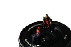 ReinigerKameraobjektiv B Lizenzfreie Stockfotos