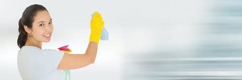Reinigingsmachine met heldere achtergrond stock afbeelding