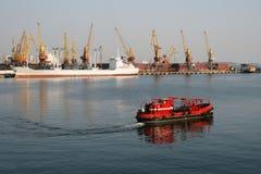 Reinigingsmachine van watergebied van haven Royalty-vrije Stock Foto