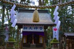 Reinigingstrog bij Igusa-heiligdom in Tokyo stock fotografie