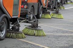 Reinigung der Straßen Lizenzfreies Stockbild