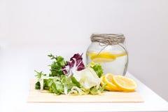 Reinigung des Körpers, biologisches Lebensmittel Gemüse, Kräuter Lizenzfreie Stockfotos