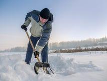 Reinigung des Schnees Lizenzfreies Stockfoto