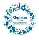 Reinigung hält Vektorillustration instand Stockbild
