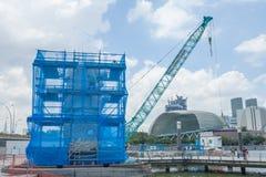 Reinigung Merlions-Brunnen, SINGAPUR Lizenzfreie Stockfotos