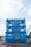 Reinigung Merlions-Brunnen, SINGAPUR Lizenzfreies Stockbild