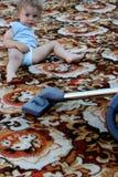 Reinigung Teppich Stockfotografie