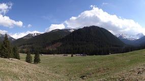 Reinigung und Berge in Zakopane Lizenzfreie Stockfotografie