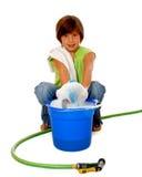 Reinigungs-Mädchen Stockbild