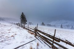 Reinigungs-Schnee-Sturm in Rocky Mountains Lizenzfreie Stockbilder