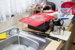 Reinigungs-Teller Stockfoto