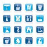 Reinigungs- und Hygieneikonen Lizenzfreie Stockfotos