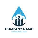 Reinigungs-und Wartungs-Logo lizenzfreie abbildung