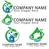 Reinigungs-Wasser-Ökologie-Konzept-Logo Lizenzfreies Stockfoto