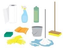 Reinigungs-Zubehör lizenzfreie abbildung