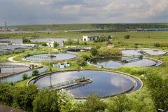 Reinigungsbau für eine Abwasseraufbereitung Lizenzfreie Stockbilder