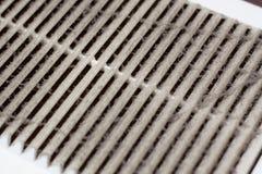 Reinigungsbelüftungsplastikstaub der Filter wird vollständig mit Staub und Schmutz verstopft lizenzfreie stockbilder