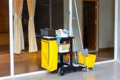 Reinigungseimer eingestellt für Haus Stockfotos