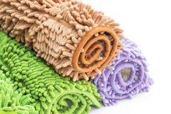 Reinigungsfüße Fußmatte oder Teppich für sauberes Ihre Füße Stockfotografie