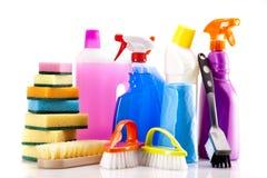 Reinigungsfelder eingestellt getrennt auf Weiß lizenzfreie stockfotos