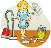 Reinigungsfrau Stockbild