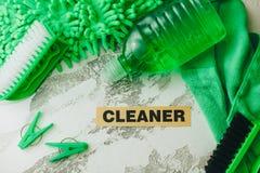Reinigungshaus- oder -bürokonzept Lizenzfreie Stockfotografie