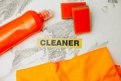 Reinigungshaus- oder -bürokonzept Lizenzfreie Stockbilder