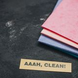 Reinigungshaus- oder -bürokonzept Stockbild