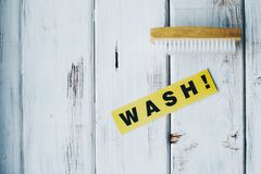 Reinigungshaus- oder -bürokonzept Lizenzfreies Stockbild