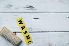 Reinigungshaus- oder -bürokonzept Stockfotos
