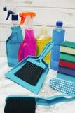 Reinigungshaus- oder -bürokonzept lizenzfreies stockfoto