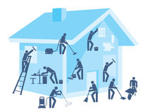 Reinigungshaus und -garten Lizenzfreie Stockfotos