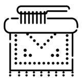 Reinigungsikonenvektor stock abbildung