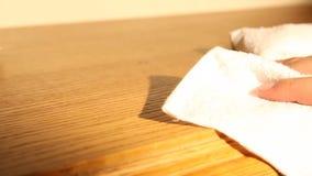 Reinigungsmöbel mit Abwischen stock video