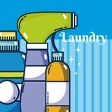 Reinigungsmittel füllt Wäscherei ab lizenzfreie abbildung