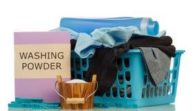 Reinigungsmittel und Kleidung im baske Lizenzfreie Stockfotografie