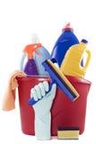 Reinigungsprodukte lizenzfreie stockfotos