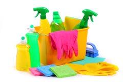 Reinigungsprodukte Stockfoto