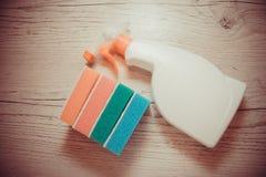 Reinigungsprodukte für Haus Stockfotos