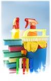 Reinigungssatz für Reinigungsmittel stockbilder