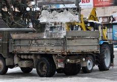 Reinigungsschnee von city_3 Lizenzfreie Stockfotografie