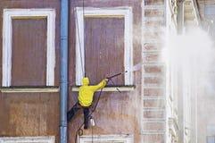 Reinigungsservice-Arbeitskraft Stockfoto