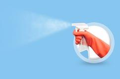 Reinigungsservice-Schablone Stockfotos