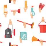 Reinigungsservice-Versorgungen vektor abbildung