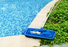 ReinigungsSwimmingpool Stockfoto